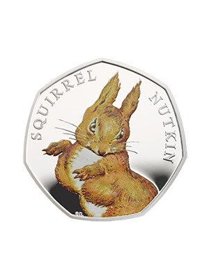 150th Anniversary of Beatrix Potter – Squirrel Nutkin 925 Fine Silver Proof Colour Coin