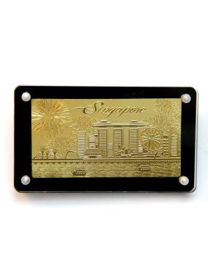 Singapore Skyline Goldfoil Magnet