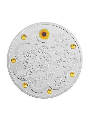 Happiness Silver-Plated Medallion