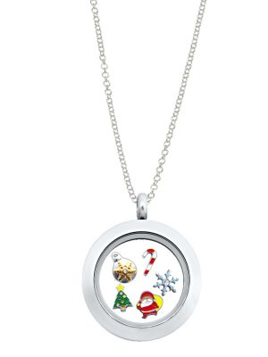 Christmas Themed Locket & Charms Set