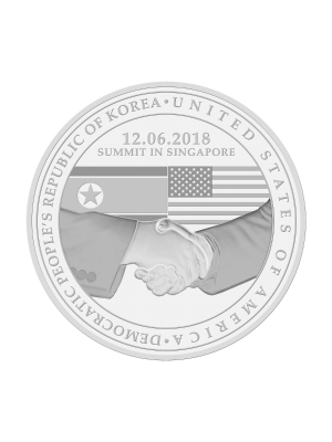 [1st Issue] United States - North Korea Summit 2018 Nickel-plated Zinc Proof-Like Medallion