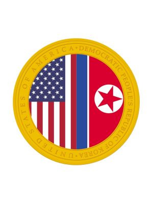 [2nd Issue] New USA - DPRK Relations 1/2 oz 999.9 Fine Gold Proof Medallion