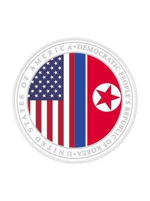 [2nd Issue] New USA - DPRK Relations 1 oz 999 Fine Silver Proof Medallion