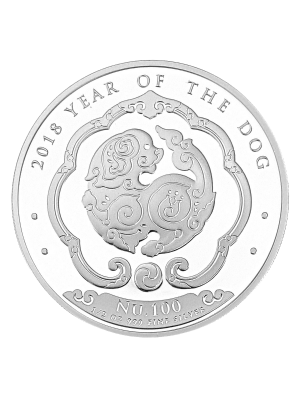 Bhutan Dog 1/2oz 999 Fine Silver BU Coin
