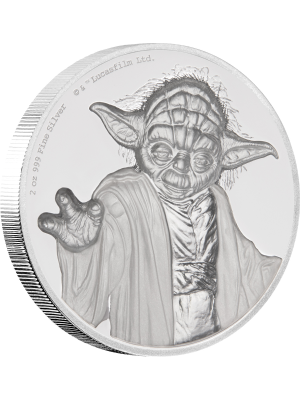 Star Wars Yoda™ Ultra High Relief 2oz Silver Proof Coin