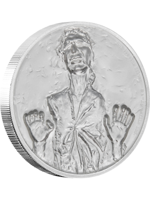 Star Wars Hans Solo™ Ultra High Relief 2oz Silver Proof Coin