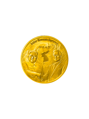 Peace in Korean Peninsula 1/2 oz 999 Gold Medallion