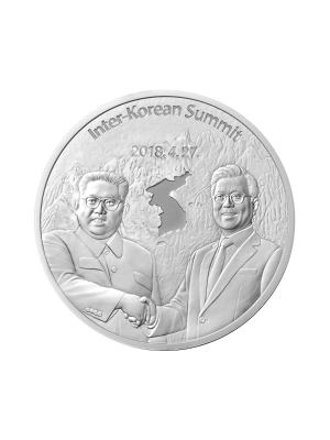 Peace in Korean Peninsula 1 oz 999 Silver Medallion