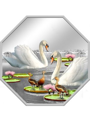 Istana Swans 1 oz 999 Fine Silver Proof-Like Medallion