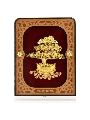 Prosperity Golden Tree Gold Foil  Mini Frame