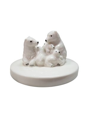 Polar Bear Porcelain Figurine