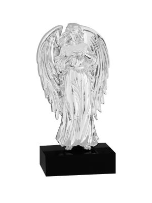 Guardian Angel Silver-Plated Figurine