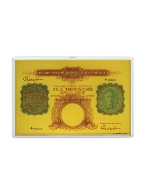 $10,000 King George VI 1g Fine Gold Foil Replica