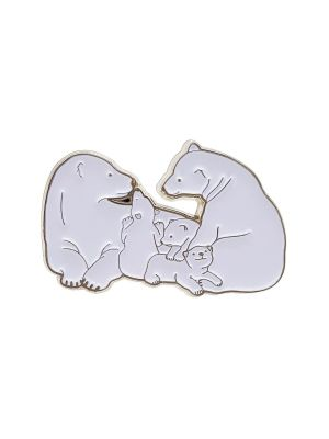 Polar Bear Magnetic Pin