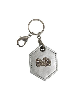 Polar Bear (Silver Leather) Keychain