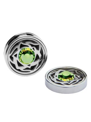August Birthstone Crystals - Cufflinks & Charms Set
