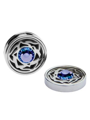 September Birthstone Crystals - Cufflinks & Charms Set