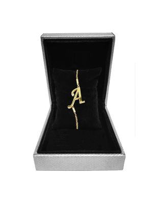Alphabet A Bracelet (Gold-plated with Crystal)