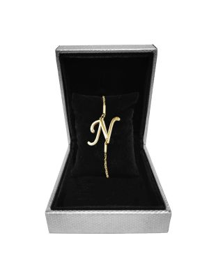 Alphabet N Bracelet (Gold-plated with Crystal)