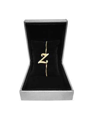 Alphabet Z Bracelet (Gold-plated with Crystal)