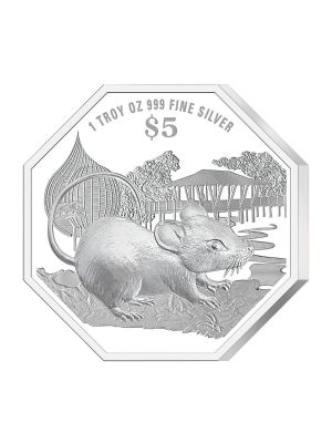 2020 Singapore Lunar Rat 1 troy oz 999 Fine Silver Proof Coin