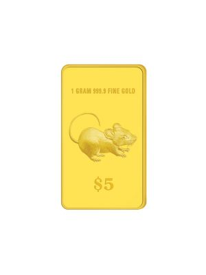 2020 Singapore Lunar Rat 1 gram 999.9 Fine Gold Brilliant Uncirculated Coin