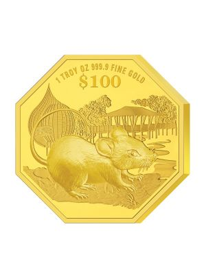 2020 Singapore Lunar Rat 1 troy oz 999.9 Fine Gold Proof Coin