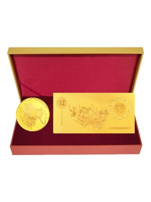 Golden Rat Medallion with Gold Foil Note Set
