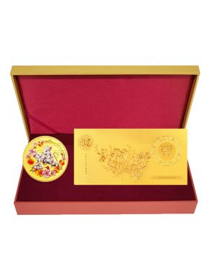 Blissful Rat Medallion with Gold Foil Note Set