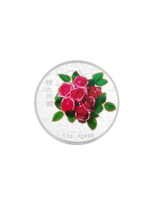 Taiwan Valentine's Day 1oz 999 Fine Silver Colour Medallion