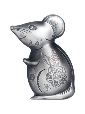 Mongolia Witty Silver Mouse 1oz 999 Fine Silver Coin