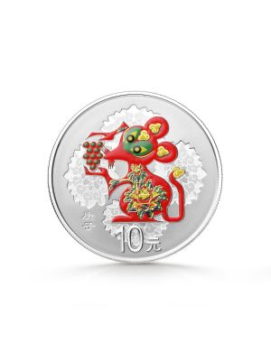 2020 China Lunar Year of the Rat 30gm Silver Colour Coin
