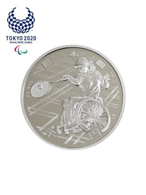Tokyo 2020 Paralympic Games Tennis 1,000 Yen Commemorative Silver Proof Coin