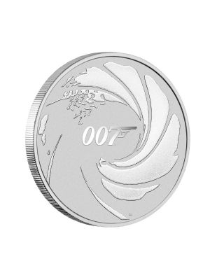 2020 James Bond 007 1oz Silver Bullion Coin in Card