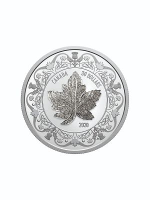 2020 Canadian Maple Leaf Brooch Legacy 999 Fine Silver Proof Coin With Silver Pendant