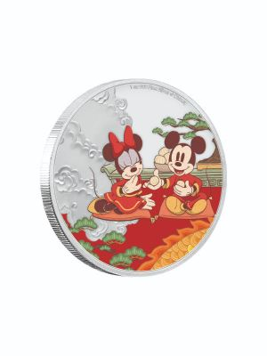Disney 2020 Year Of The Mouse Good Fortune 999 Fine Silver Proof Colored Coin