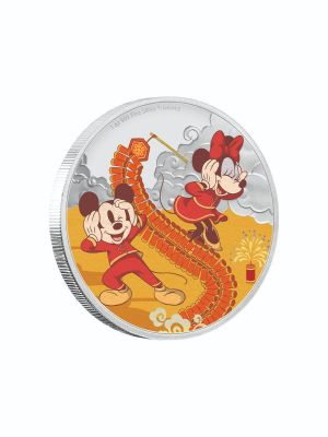 Disney 2020 Year Of The Mouse Prosperity 999 Fine Silver Proof Colored Coin