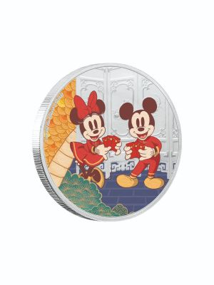 Disney 2020 Year Of The Mouse Longevity 999 Fine Silver Proof Colored Coin