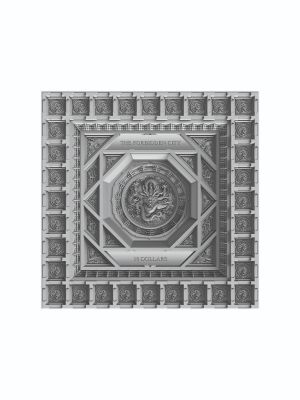 2020 Samoa Dragon Caisson Ceiling In The Forbidden City Antique Finish Silver Coin