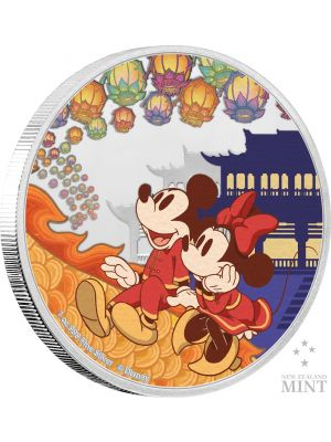 Disney 2020 Year Of The Mouse Happiness 999 Fine Silver Proof Colored Coin