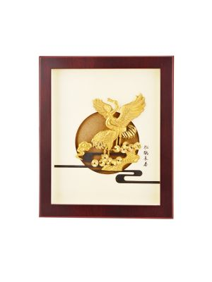 Golden Crane of Blessing Mini Frame