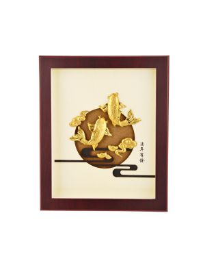 Prosperous Koi Fish Mini Frame