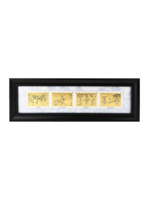 Vanishing Games of Singapore Gold-Foil Stamp Frame