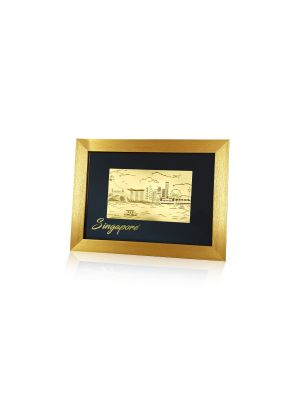 Singapore Skyline (2nd Series) Gold Foil Frame - Large