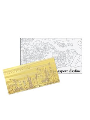 Singapore Skyline Gold-foil Note