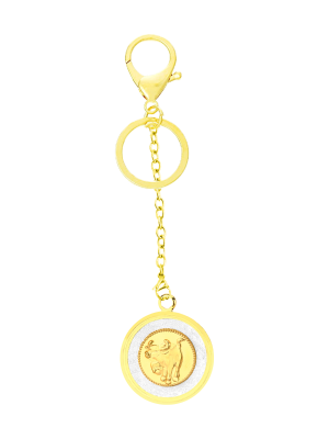 Ox Gold Foil Keychain