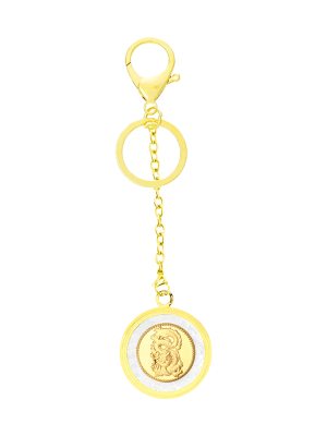 Dragon Gold Foil Keychain