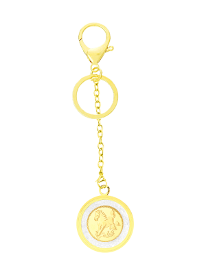 Horse Gold Foil Keychain