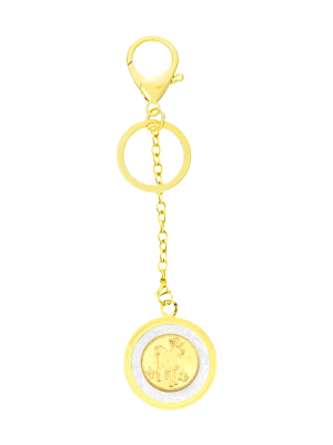 Goat Gold Foil Keychain