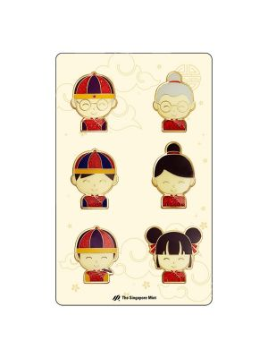 CNY Family Magnetic Pins Set